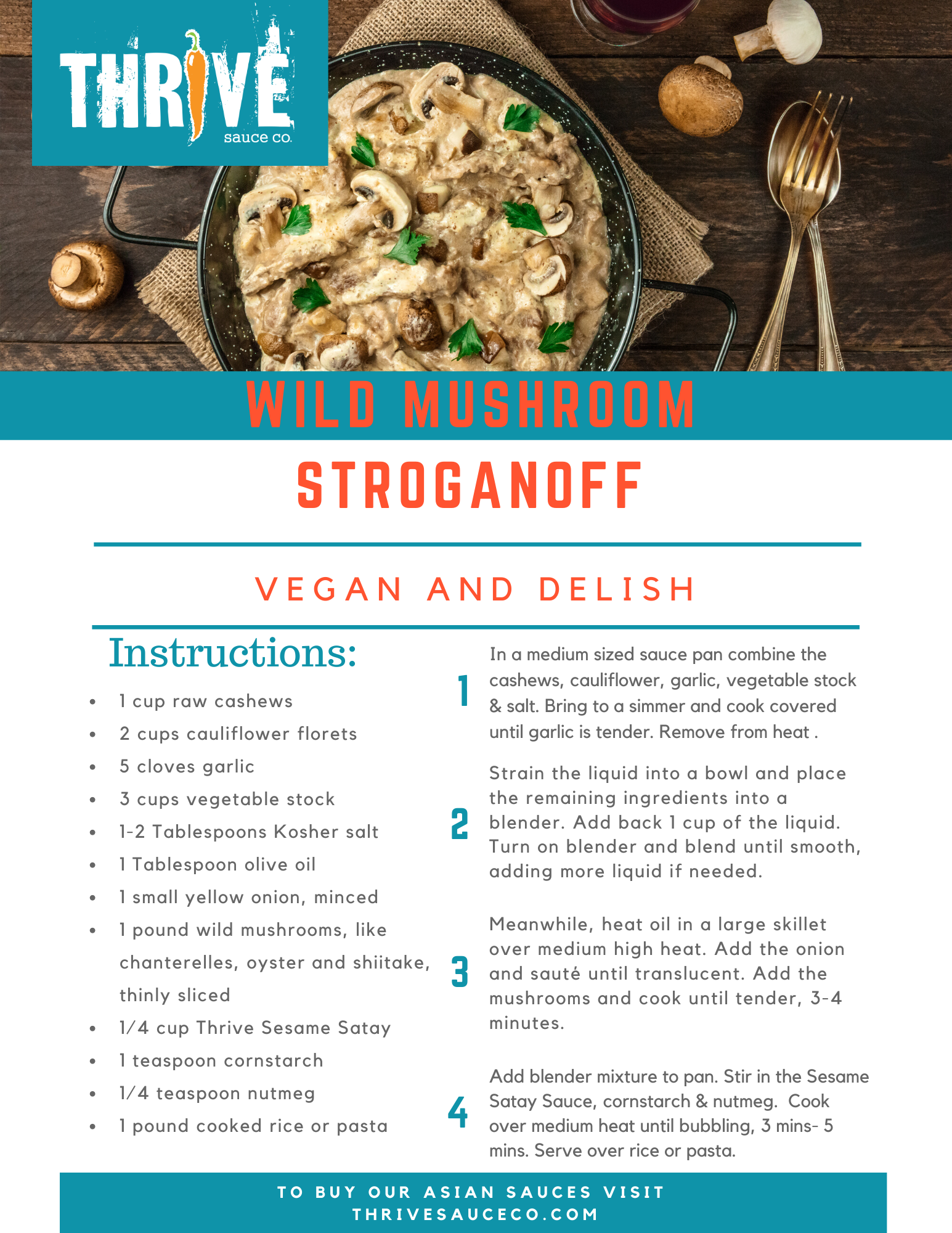 Wild Mushroom Stroganoff Recipe