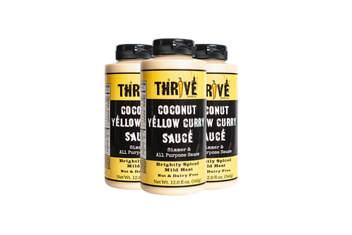 Thrive Sauce Co Asian Three Pack | Coconut Yellow Curry, Sesame Satay, Sweet Chili Lemongrass