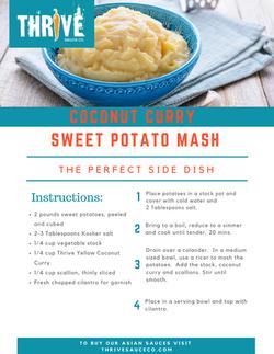Coconut Curry Sweet Potato Mash Recipe