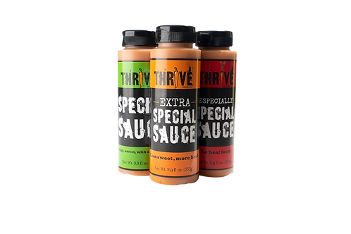 Thrive Sauce Co Special Three Pack | Special Sauce, Extra Special Sauce, Especially Special Sauce | All Purpose Condiment