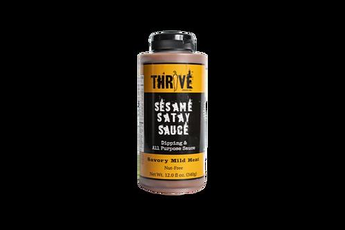 Thrive Sauce Co | Sesame Satay | Nut Free Peanut Satay Sauce Vegan Gluten Free Nut Free