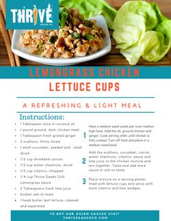 Lemongrass Chicken Lettuce Cup Recipe