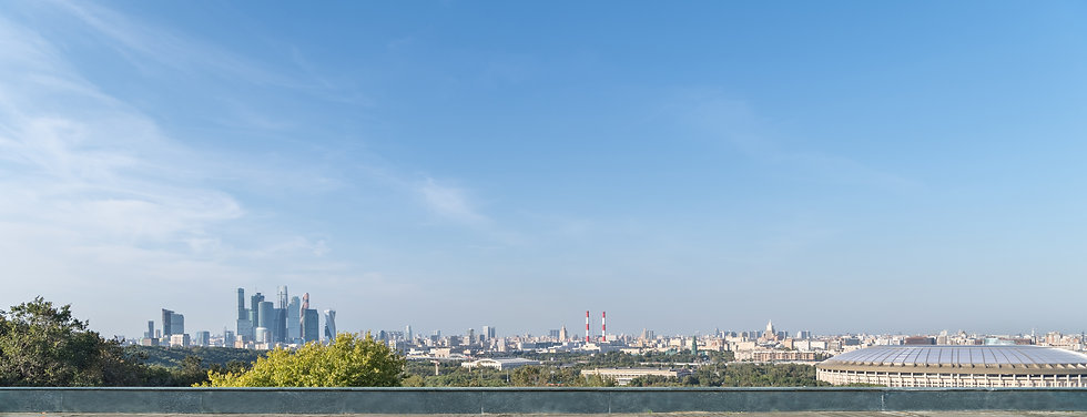 moscow-city-skyline-and-empty-wooden-flo