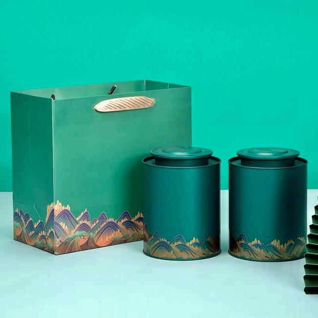 Hộp trà quà tặng hộp thiếc Phú Quý Bình An