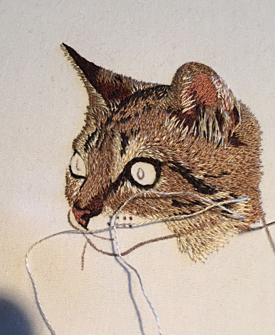 Embroidered Kitten