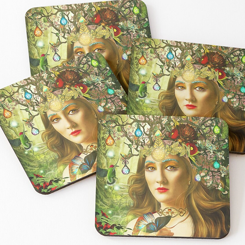 Queens of Tarot Coasters (set of 4)