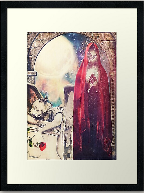 Death (Tarot of Enchanted Dreams) Framed Print
