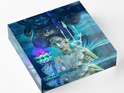 Queens of Tarot Acrylic Block