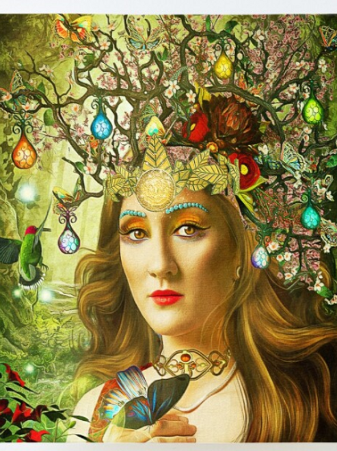 Queens of the Tarot (wood mounted prints)