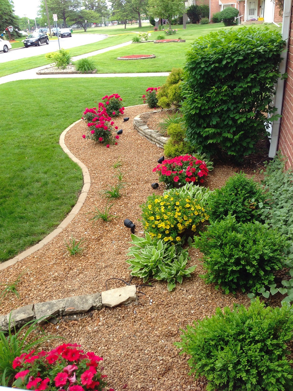 path with plants and rocks at Cedarwood homes