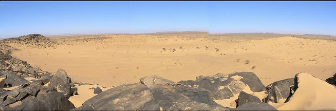 Cratère d'Aouelloul, adrar, mauritanie