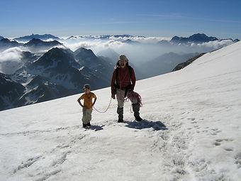 Randonnee, voyage, montagne