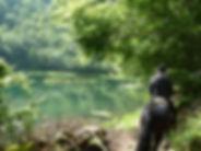 Lac de Bethmale, randonnée équestre, transhumance mérens