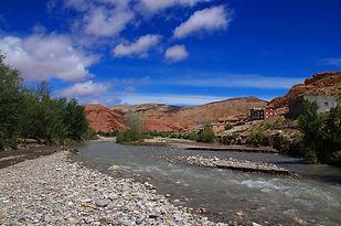 Maroc, Haut-Atlas, vallée des Roses, Assif M'Goun