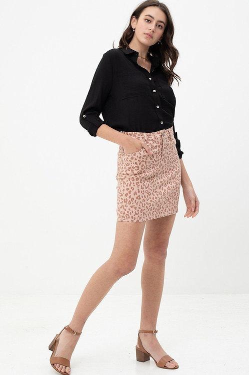 Lola Leopard Mini Skirt