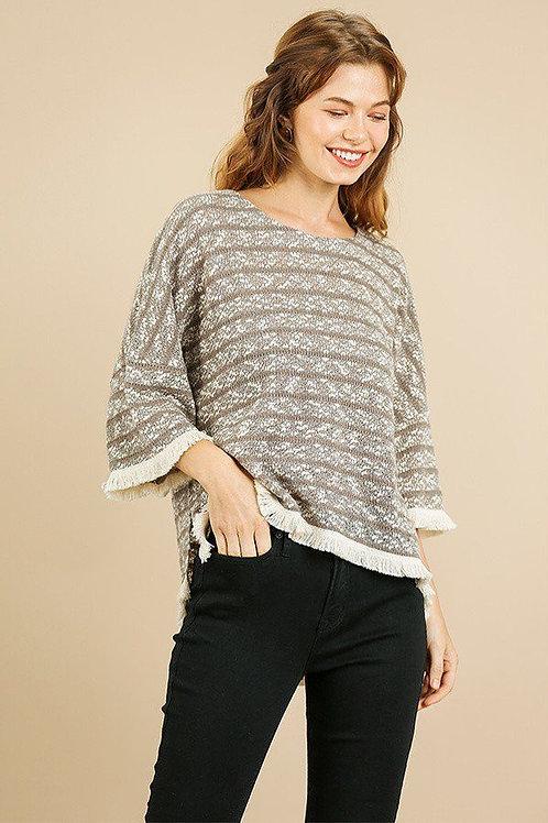 Heathered Striped Knit