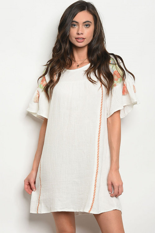 Judy Embroidered Tunic Dress