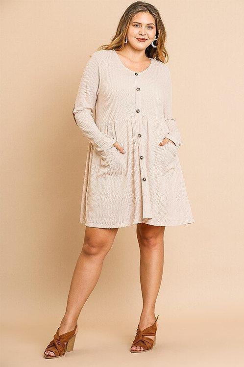 Leah Waffle Knit Dress