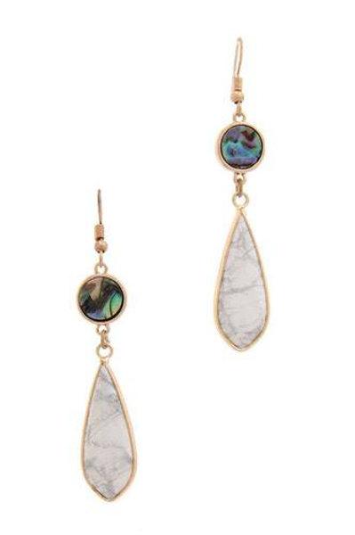 Stone Tear Drop Earrings