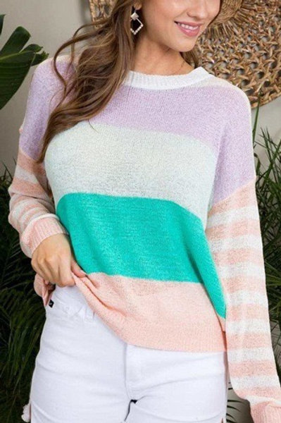 Elian Color Block Sweater