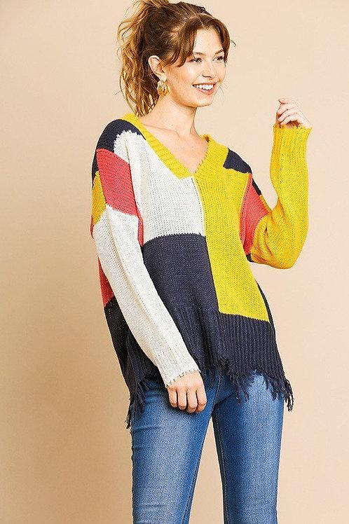 Skylar Color Block Sweater