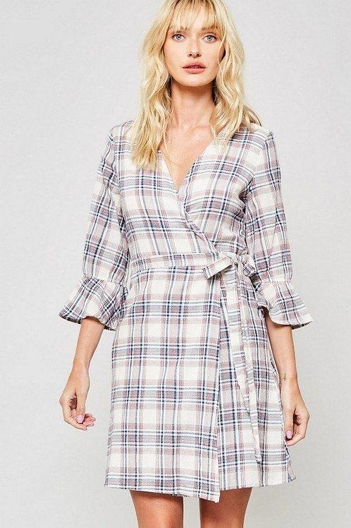 Beth Ruffle Print Dress