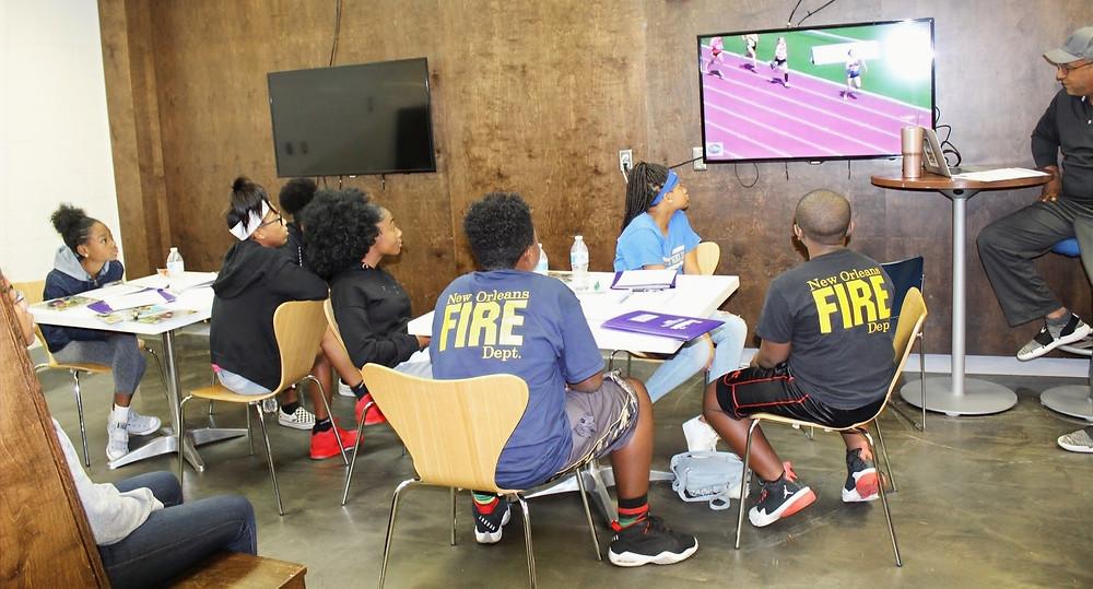 Kids in New Orleans EAS class sponsored by Regions Bank