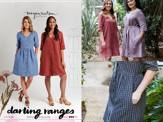 DARLING RANGES DRESS & BLOUSE PATTERN by Megan Nielsen