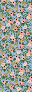 Garden Party by Rifle Paper Co. - Rosa Chambray Metallic