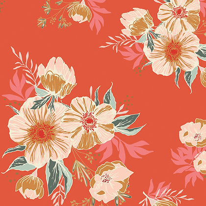 Candied Roses in Rayon by Art Gallery Fabrics R-12580-1