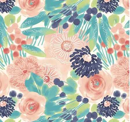 Blushing Dots  | Floral Green