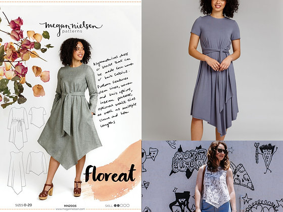 Floreat dress and top pattern by Megan Nielsen