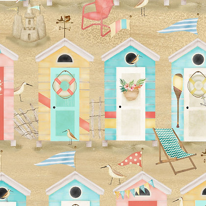 Beach Travel by Beth Albert - Beach Huts