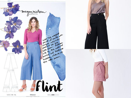 FLINT PANTS AND SHORTS PATTERN by Megan Nielsen
