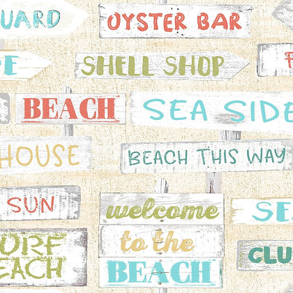 Beach Travel by Beth Albert - Signs