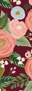Garden Party by Rifle Paper Co. - Juliet Rose Burgundy Canvas