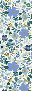 Garden Party by Rifle Paper Co. - Wild Rose Blue Metallic