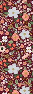 Garden Party by Rifle Paper Co. - Rosa Burgundy Metallic