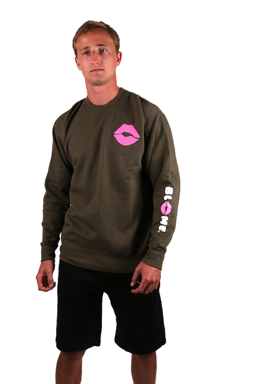 Crewneck Sweater with Blow Me Sleeve