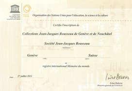 Inscription au registre Mémoire du monde de l'UNESCO