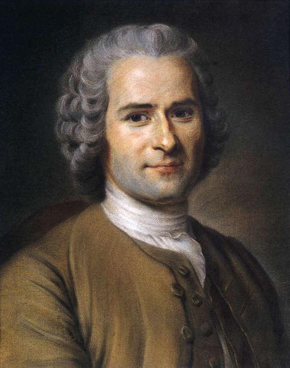 Portrait de J.-J. Rousseau par Maurice Quentin de La Tour