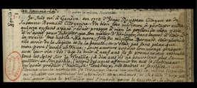 Manuscrit de J.-J. Rousseau