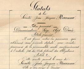 Statuts de la Société Jean-Jacques Rousseau (1904)