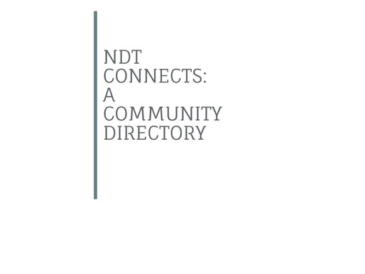NDT Connects: a Community Directory