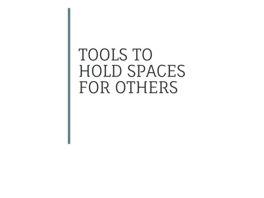Holding Spaces