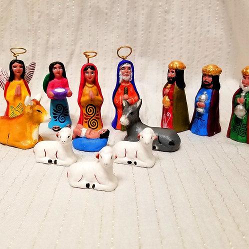 Clay Nativity from Izucar, Puebla