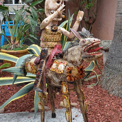 Skeleton El jinete rider/ Horse and skeleton