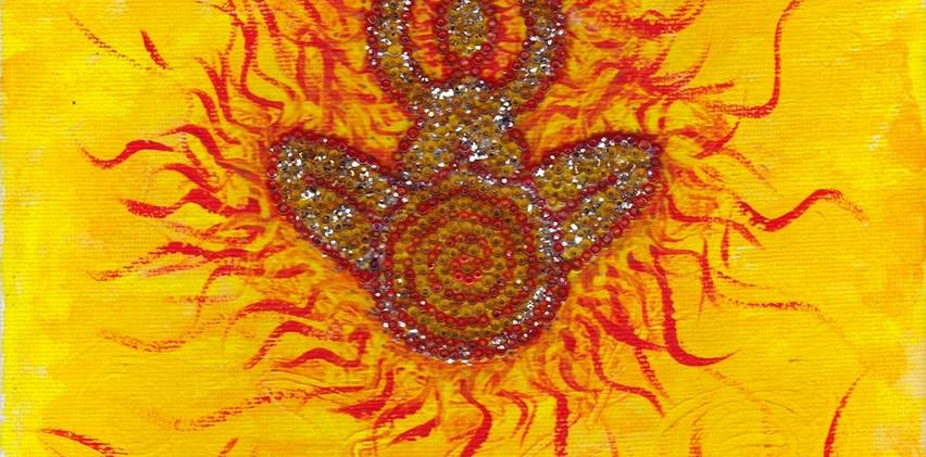 SAMART001_Fire_Goddess_Painting._Acrylic