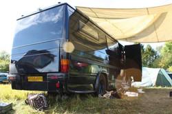 Horse drawn summer camp, UK 2011