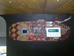 Electrics on an old skateboard!